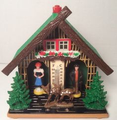 Vtg Bambi Weather Thermometer Barometer West Germany Cabin Decor Temperature | eBay
