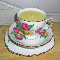 Hearts and Home - home accessories & gifts for all occasions, wedding and event hire. Teacup Candles, Vintage China, Wedding Bridesmaids, Home Accessories, Personalized Gifts, Tea Cups, Lemon, Hand Painted, Tableware