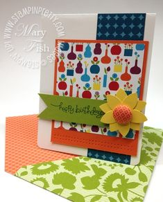 Pretty Cards, Cute Cards, Diy Cards, Card Making Inspiration, Making Ideas, Mary Fish, Stampin Pretty, Card Tags, Happy Birthday Cards