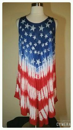 7bc94e88837 Women s Plus Size 2X American Flag Patriotic Umbrella Dress Cover Up NWT   RiveraSun  Sundress