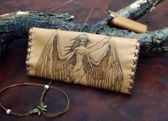 "Genuine leather ''Angel"" Tobacco Pouch"