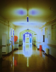 Catherine Yass, 'Corridors' 1994 I really like the effect of this photograph with the blurred colours. It looks as if it's a hospital and it's quite spooky looking as well. Photography Projects, Landscape Photography, Art Photography, Reflection Art, Art Terms, Empty Spaces, Sense Of Place, Summer Work, Gcse Art
