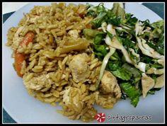 """""""Τσιγαριστό"""" ρύζι με κοτόπουλο και λαχανικά"""