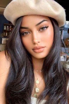 Beautiful Girl Makeup, Beautiful Girl Image, Gorgeous Women, Beautiful Pictures, Natural Glowy Makeup, Natural Everyday Makeup, Natural Make Up, Natural Skin, Model Face