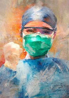 Chinese artists created a sort of amazing illustrations to pay tribute to medical staff fighting the coronavirus. A lot of them are dedicated to Dr. Art Sketches, Art Drawings, Medical Wallpaper, Nurse Art, Rose Illustration, Art Illustrations, Art Antique, Medical Art, Medical Logo