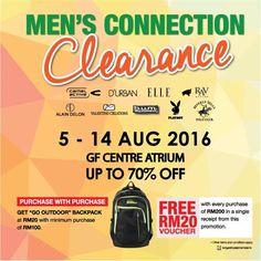 5-14 Aug 2016: SOGO KL Men's Connection Clearance Sale