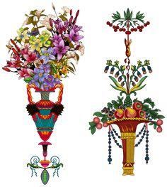Textile Prints, Textiles, Egypt Design, Asian Wallpaper, Anubis Tattoo, Botanical Flowers, Border Design, Some Ideas, Flower Art