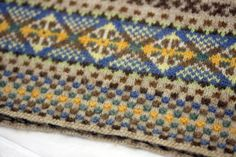 Fair Isle knitting - beautiful textures and patterns.