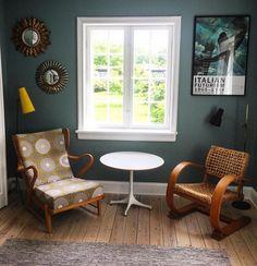 """35 Synes godt om, 7 kommentarer – Peter Kjelgaard (@peterkjelgaard) på Instagram: """"New garden view. Oak highback 1940s chair by Otto Færge with """"egocentrismo"""" Fornasetti fabric, Knud…"""""""