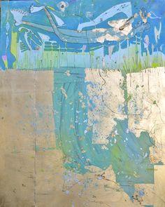 Gesine Arps- Vita nel lago - 120x150 #art #contemporary #gold #turquoise