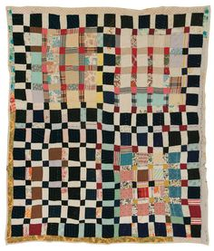 Gee's Bend: One Patch quilt,  c. 1950, by Magdalene Wilson. | Souls Grown Deep Foundation