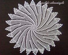 patterns and motifs crocheted motif Crochet Doily Diagram, Crochet Lace Edging, Crochet Doily Patterns, Crochet Borders, Thread Crochet, Filet Crochet, Irish Crochet, Crochet Stitches, Crochet Home