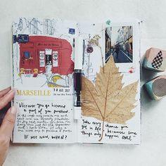 """If not now, then when har?"" #midoritravelersnotebook#diary#journal#midori#travelersfactory#文具#手帳#journaling#planneraddict#wreckthisjournal#travelersnotebookmalaysia#travelerscompany#marseille"