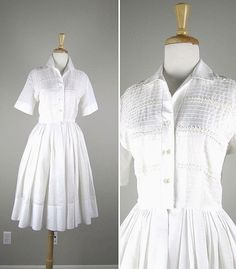 1950 white dress from Revolving Styles Etsy shop