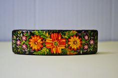 Wooden Hair Barrette.Handmade and Hand painted. by IGORartPAINTING