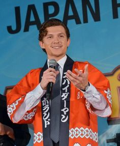"""""""Spider-Man: Homecoming"""" star Tom Holland attended a fan event at the Japanese premiere of the film in Tokyo on August… – @UPI Photo Gallery"""