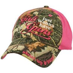 e2bd667b788 Girls Just Wanna Have Guns Embroidered Cap Country Hats