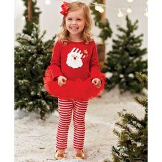 Santa Skirt Set by Mud Pie