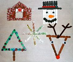 5 Craft Stick Christmas Ornaments