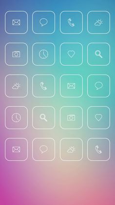 iOS7 App Icon Skins For awesome apps : http://goo.gl/yyghK1 #ios #apps #games