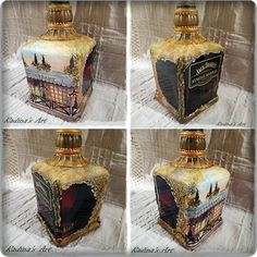 Decorated bottle.