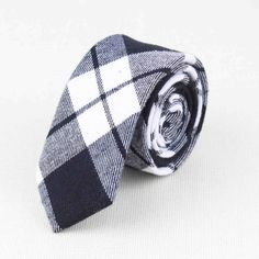 Soft Mens Fashion Diamond Check Artificial Wool Cotton Striped Skinny Ties Men business Small Ties Designer Cravat No.1-21