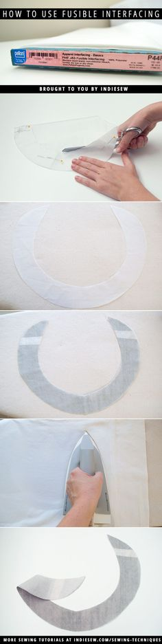 Learn how to use fusible interfacing in apparel sewing patterns! | Indiesew.com