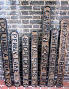 Vintaged Wooden Street Sign