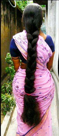 Very nice Indian Long Hair Braid, Long Hair Ponytail, Bun Hairstyles For Long Hair, Braids For Long Hair, Braided Hairstyles, Long Black Hair, Very Long Hair, Beautiful Braids, Beautiful Long Hair