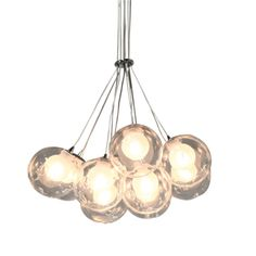 Belluci hanging lamp 10-lights Transparent - By Rydens