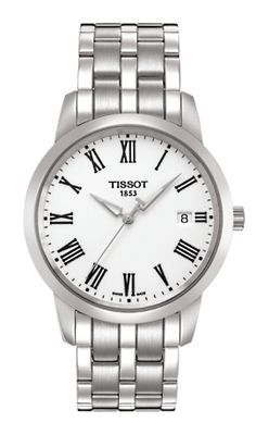 29cbd8cc0d1 Tissot Swiss Men S T-Classic Dream White Dial Stainless Watch