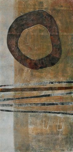 "Looking for Symmetry ~ by Anne Moore, printmaker. New Work, 20"" x 10"" block"