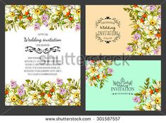 Flowers Wedding Invitation Stock Photos, Images, & Pictures | Shutterstock