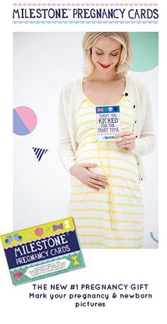 #1 Baby Shower gift - Original Milestone™ Pregnancy Cards
