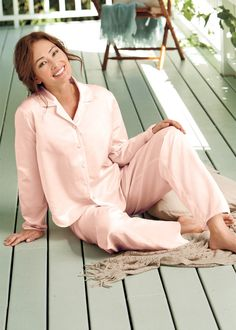 petite-Silk Cotton Sateen Pajama Set