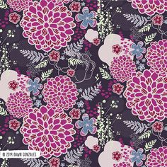Asian Inspired Floral 1by Dawn Gonzales