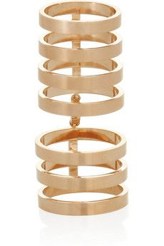 Obsession piece of mine for years! #layeredny Repossi Berbère 18-karat rose gold link ring | NET-A-PORTER