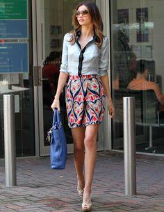 Miranda Ker con look de Prada