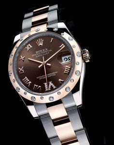rolex with chocolate brown face