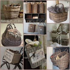 Collage by Miss Lily Bliss & Decorating with Baskets 18 Everyday Ideas | Pinterest | Twine ...