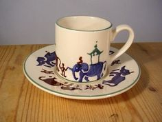 Working Elephants Espresso Cup & Saucer (Discontinued)