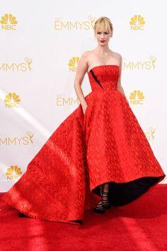 January Jones in Prabal Gurung 2014 Emmy Awards Red Carpet - Celebrity Looks from the 2014 Emmys - Harper's BAZAAR
