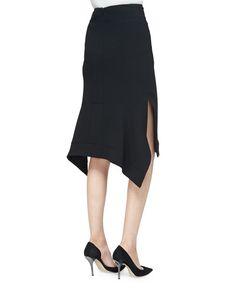 Altuzarra Cyrus Flared-Hem Pencil Skirt, Black
