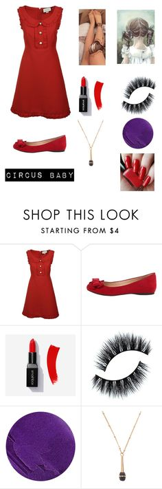 """Circus Baby"" by nightmime ❤ liked on Polyvore featuring Gucci, Jessica Simpson, Lipstick Queen and Kate Spade"