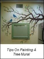 how to paint a wall mural - perfect for the family tree concept or the nursery.