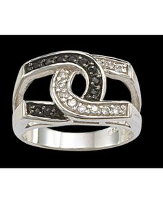 Montana Silversmiths Black and Clear HS Ring