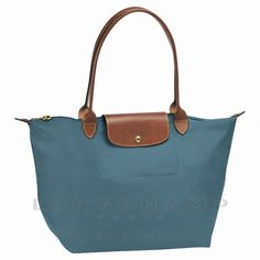 Le Pliage Sac Longchamp achats Bleu canard 1899089