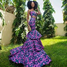african fashion outfits - Women's style: Patterns of sustainability African Prom Dresses, African Wedding Dress, Latest African Fashion Dresses, African Print Fashion, Africa Fashion, Ankara Fashion, African Attire, African Wear, African Women