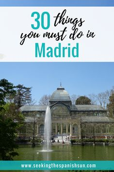 30 Things you must do in Madrid