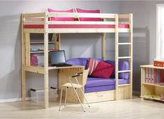 For a space-saving, multifunctional bed, try out Kinder highsleeper.
